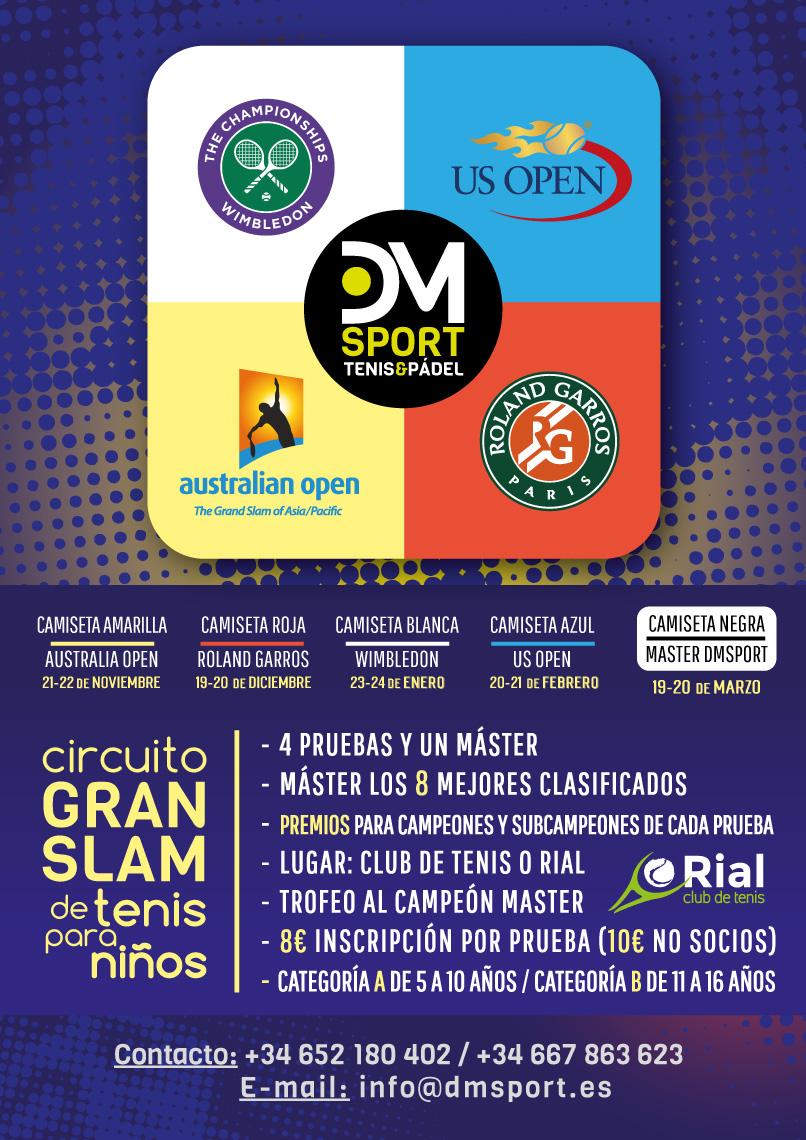 Circuito Gram Slam de tenis para niños  0feee3af94b85