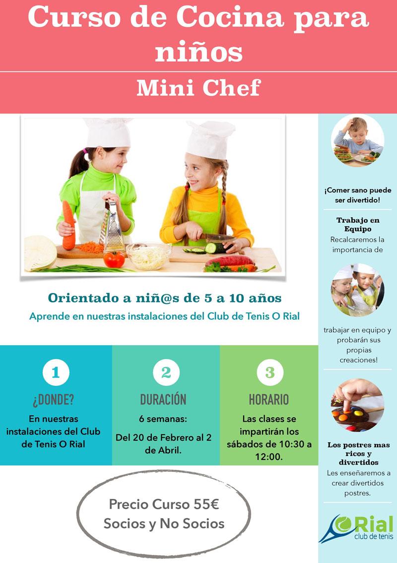 Cursos De Cocina Para Niños | Curso De Cocina Para Ninos Club De Tenis O Rial