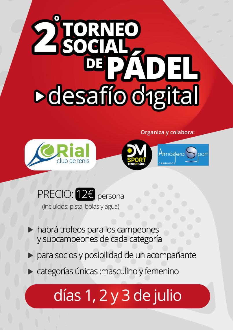 II Torneo Social de Pádel Desafío Digital