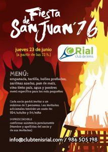 Fiesta de San Juan 2016 Club Tenis O Rial