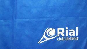 toalla serigrafía club tenis o rial